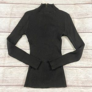 Rue 21 Brown Robbed Long Sleeve Sweater - XL